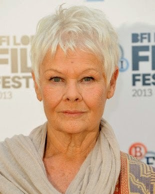 Embedded Judy Dench Gray Hair Color Judi Haircut Instructions The