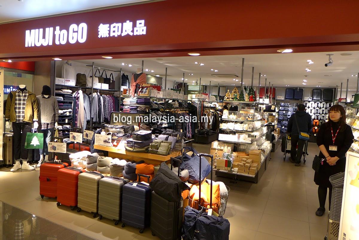 Muji to Go shop in Osaka Airport