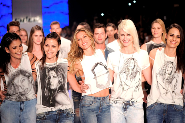 Colcci camisetas de Gisele Bündchen colecionáveis