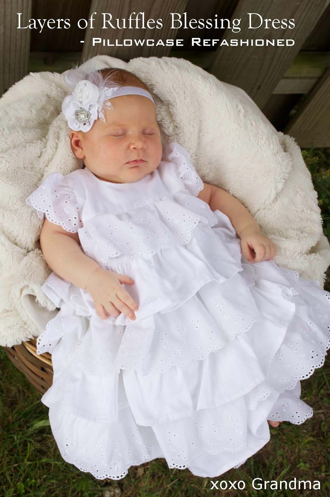 Xoxo grandma baby blessing dress using mommy 39 s wedding dress for Grandmother dresses for grandson s wedding