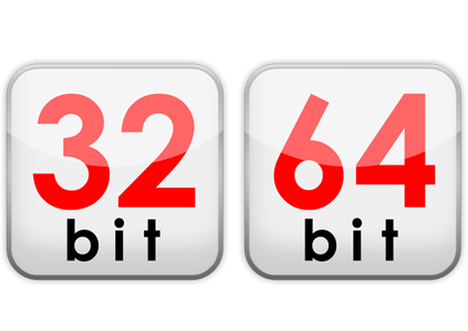 how to find 32 or 64 bit