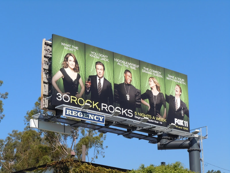 30 Rock, rocks TV billboard