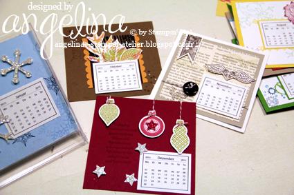 Kalender, der in eine