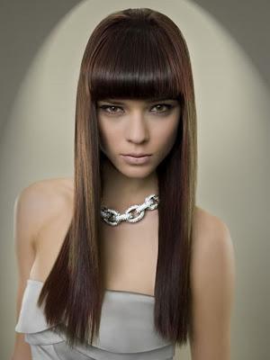 Cortes De Pelo Largo Y Glamour Con Flequillo 2012 Peinados Para