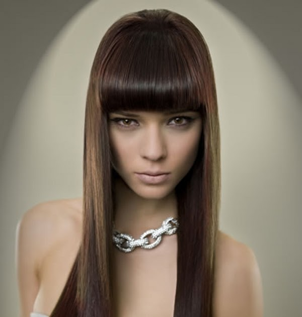 Cortes de pelo largo y glamour con flequillo 2012 - Definicion de glamour ...