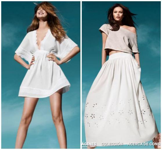Vestido blanco h y m