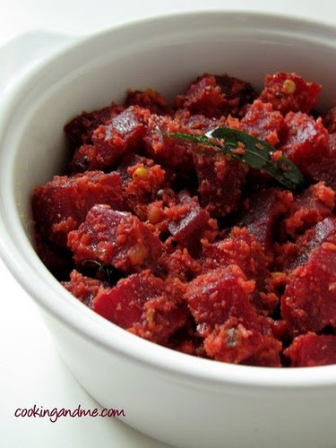 Sri Lankan Beetroot Thel Dala Recipe - Easy beetroot curry with coconut
