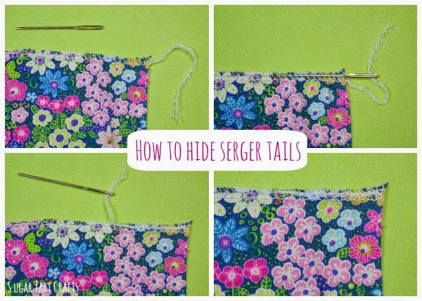 How to hide serger tails.
