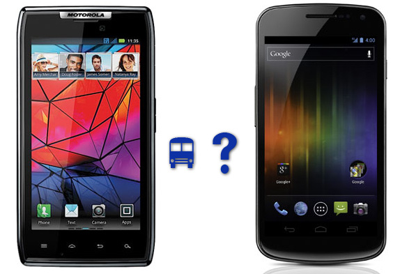 Motorola Droid RAZR and Samsung Galaxy Nexus, Samsung Galaxy Nexus vs. Droid RAZR by Motorola: the tale of the tape, picsture