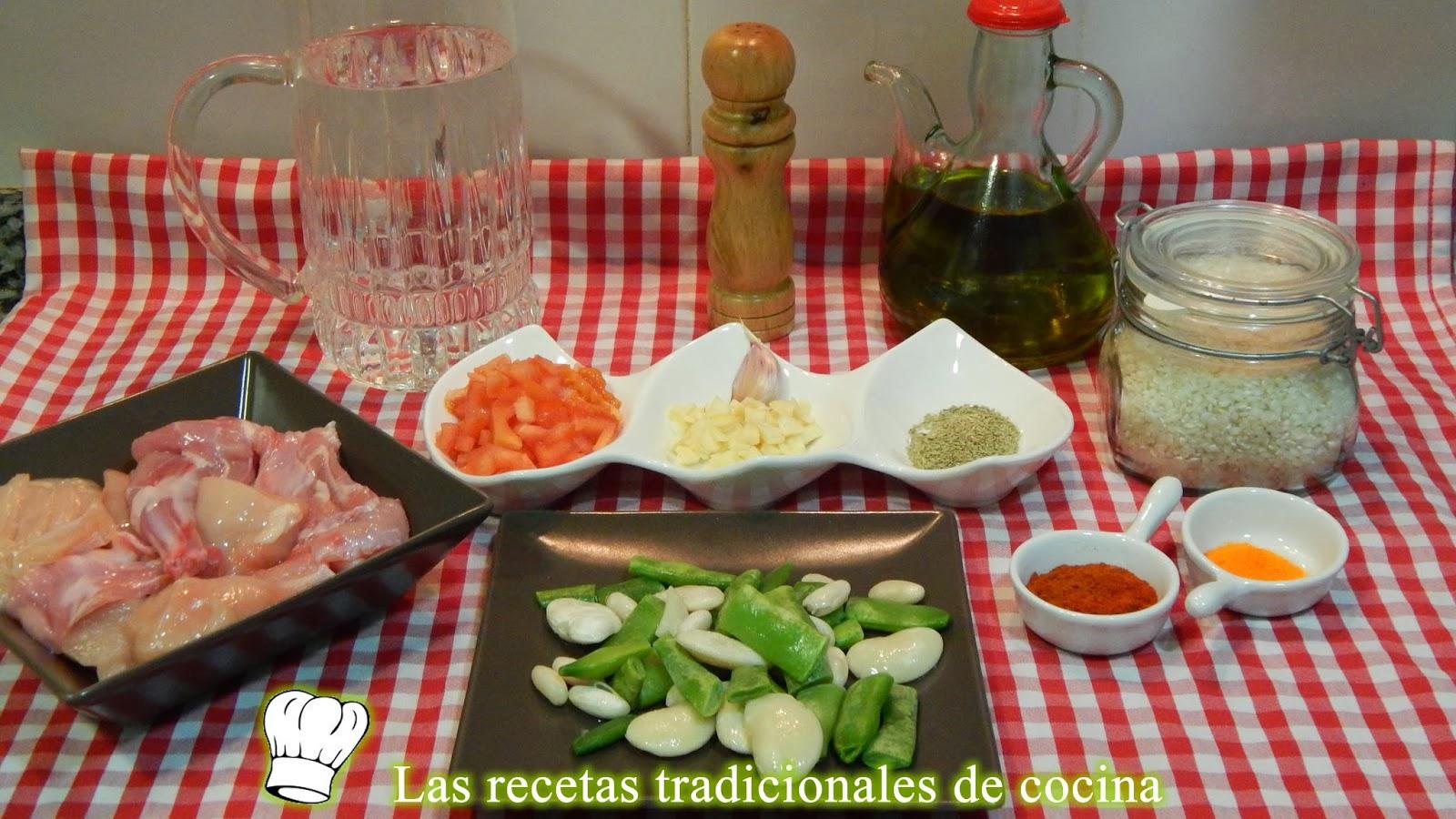 receta de arroz de paella en cazuela