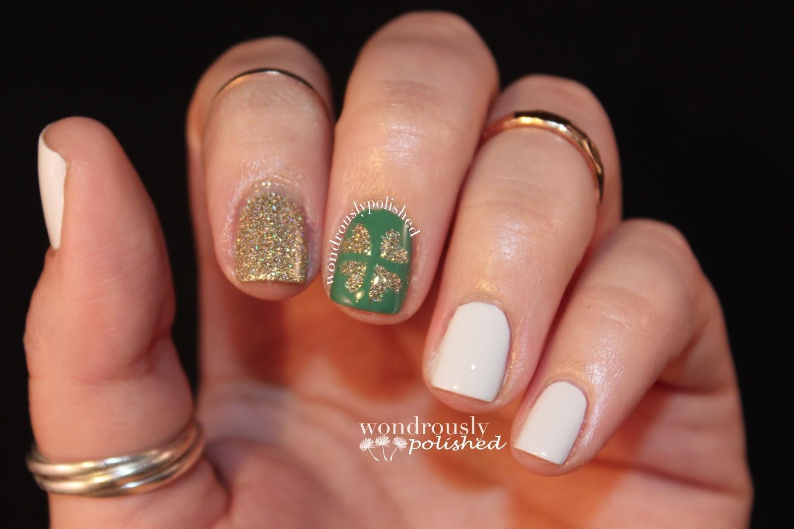 Wondrously Polished: March Nail Art Challenge - Day 6: St. Paddy\'s Day!