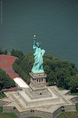 Statue of Liberty seen from above