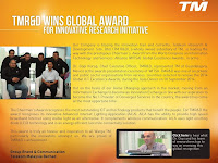 TM R&D Wins Global Award for Innovative Research Initiative 2014