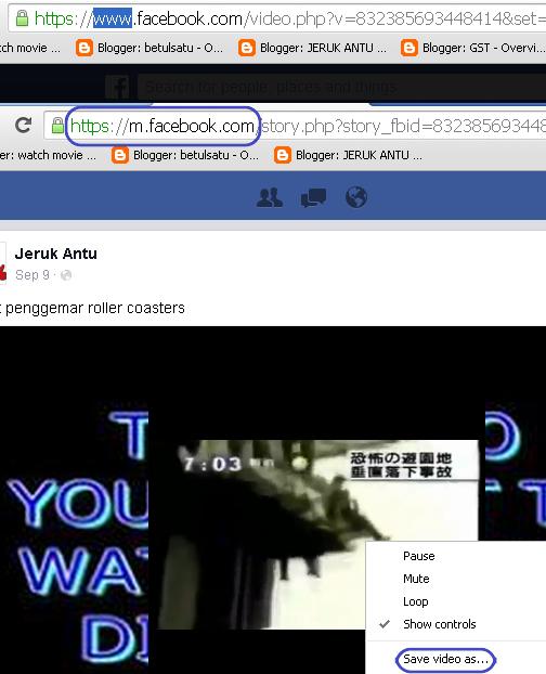 Cara Mudah Muat Turun Video Facebook