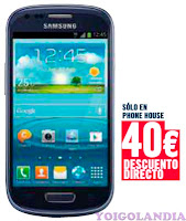 Samsung Galaxy SIII Mini Yoigo por 0 euros en Phone House