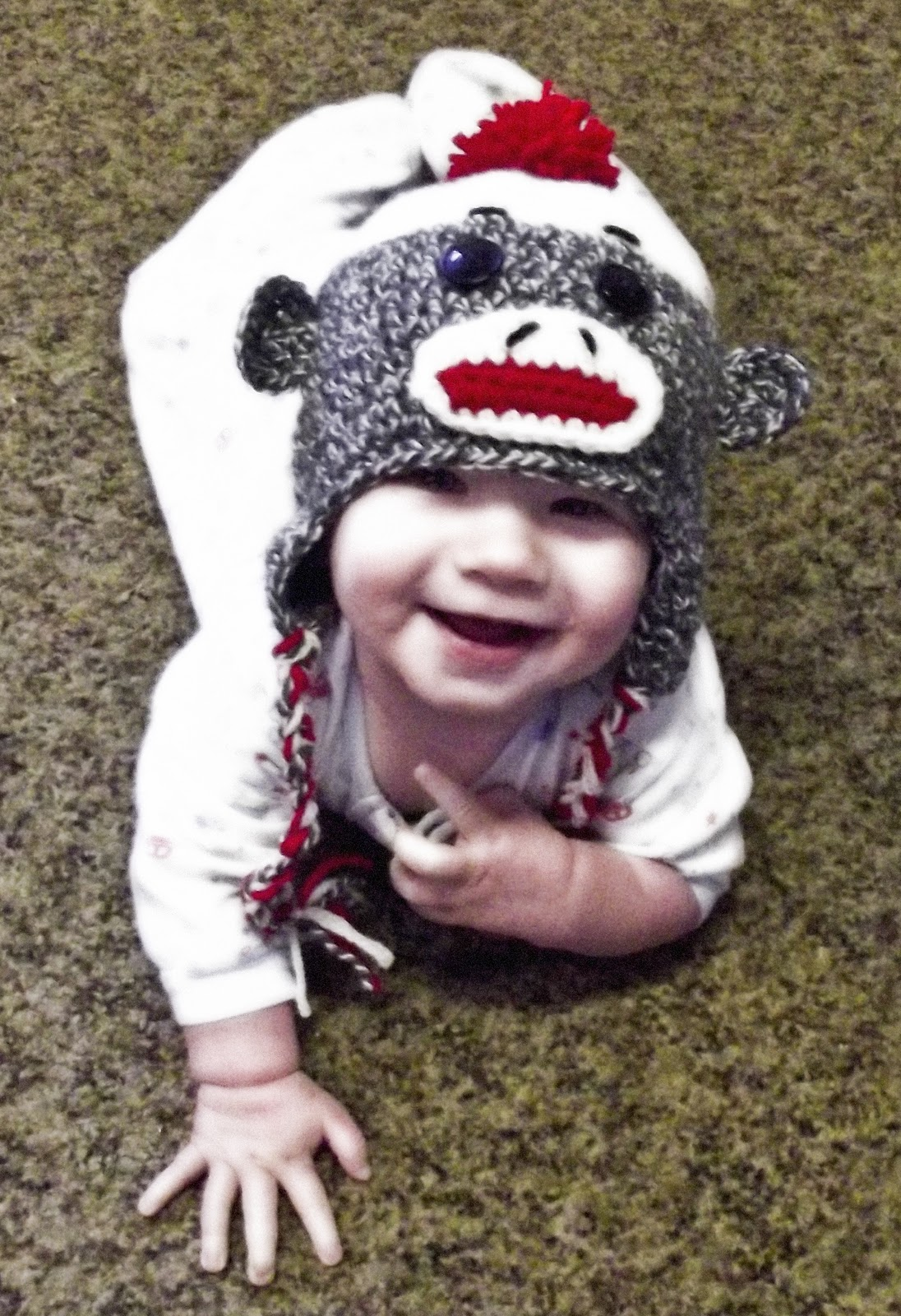 CROCHET PATTERN Sock Monkey Hat Sizes by speckledfrogcrochet