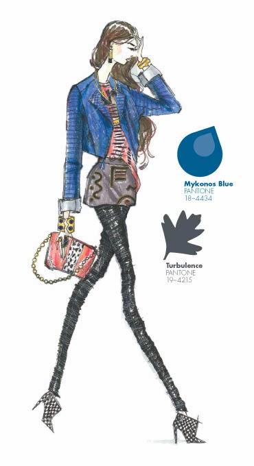 Mykonos Blue Pantone18-4434 Turbulence Pantone-19-4215