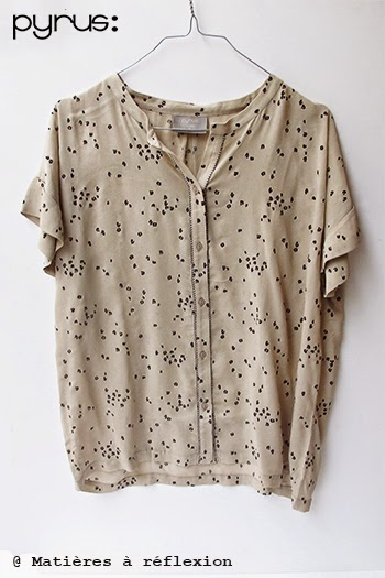 Top beige imprimé en soldes -50% Pyrus London