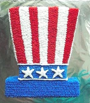 Patriotic #Top_Hat_Cake, click for more