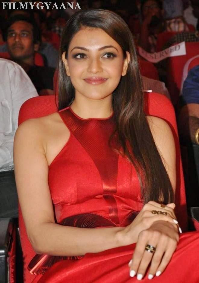 Kajal Agarwal Beautiful Stills In Red Gown