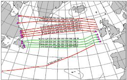 Upper airspace navigational chart