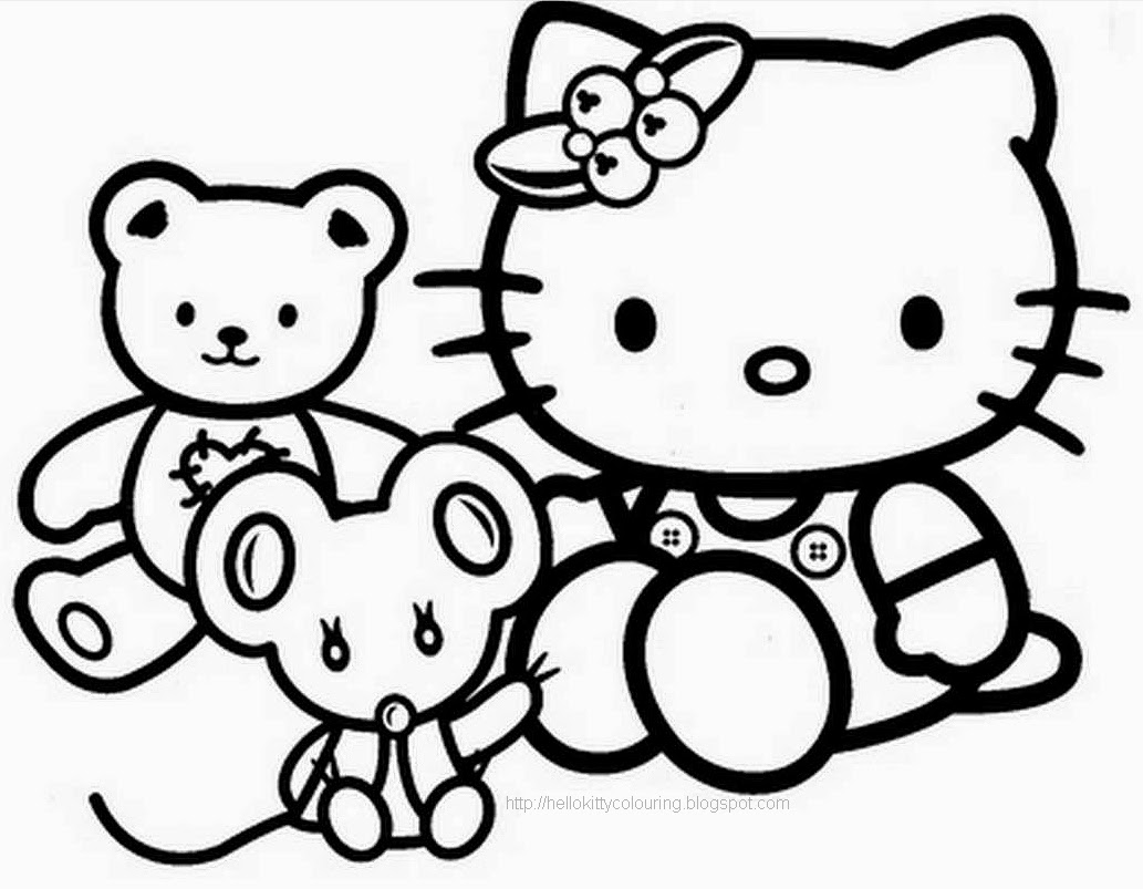 FREE HELLO KITTY COLORING BOOK