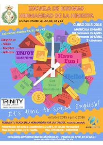 Nueva edición de la escuela de idiomas