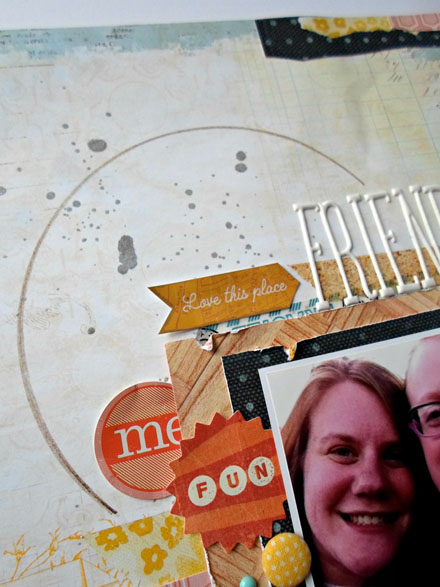 Add spray ink to your scrapbook layouts