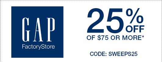 Coupon code gap factory store