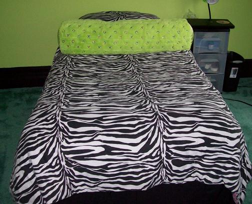 Missie wanted her room lime green and black