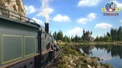 Thomas the tank engine Emily the train reached the castle and deep murky waters of bark loch lagoon