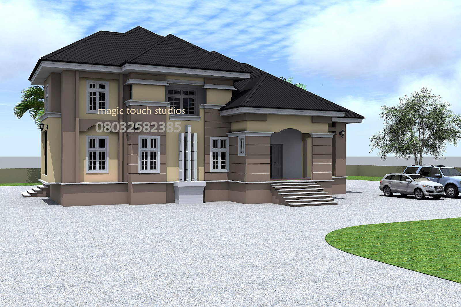 5 bedroom split level bungalow residential homes and for Four bedroom bungalow