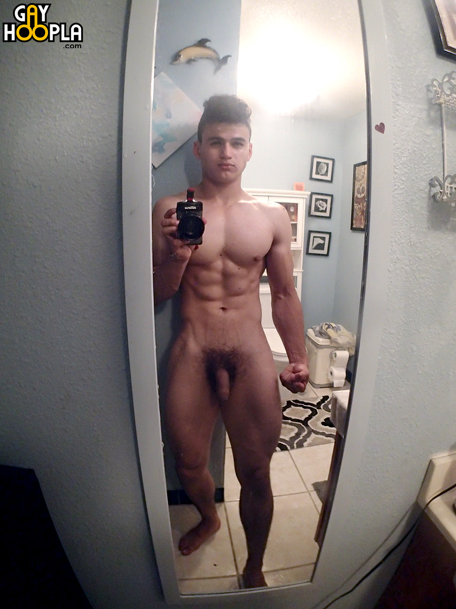 the naked housemates diaries: sexy beefcake with a huge uncut cock!