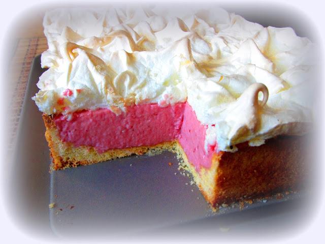 Ciasto Truskawkowo-Jogurtowe z Bezą