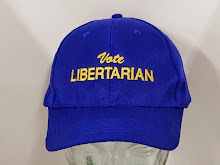Royal blue with Vote Libertarian in yellow