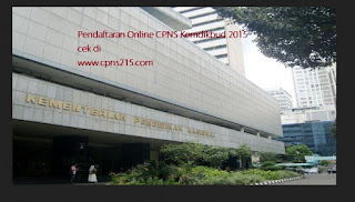 pendaftaran online CPNS Kemdikbud