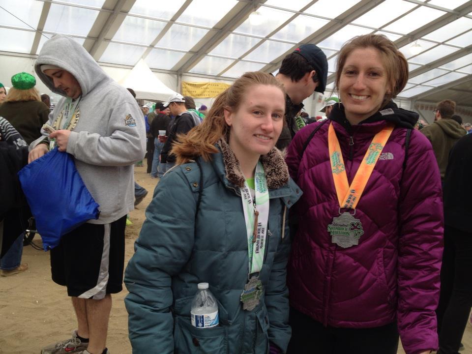 Katie Tomlinson (right)