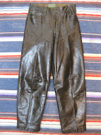 画像①               30's MID-WESTERN                HORSE HIDE                LEATHER PANTS