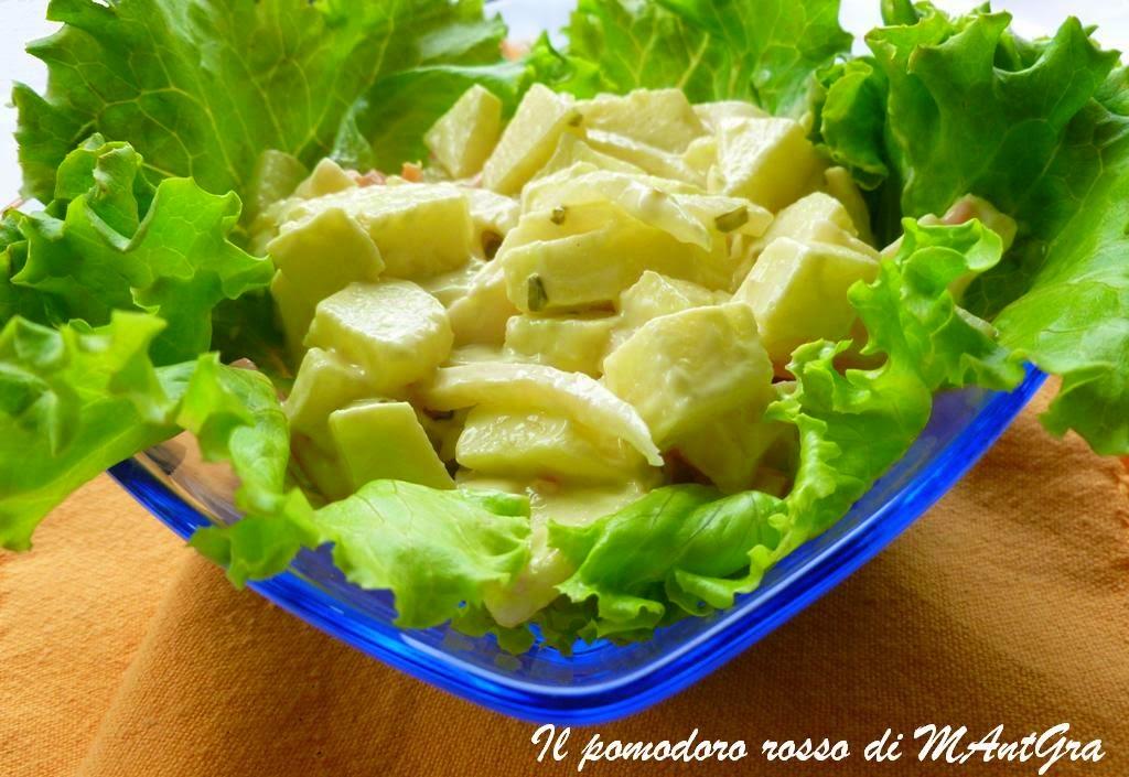 insalata di mele verdi e fontina