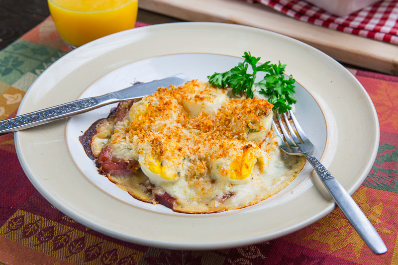 Ham Eggs ham and eggs au gratin on closet cooking