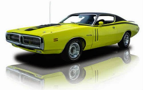 dodge car yellow