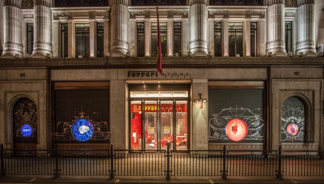 The Heart of Ferrari at the Ferrari Store on Regent Street in London