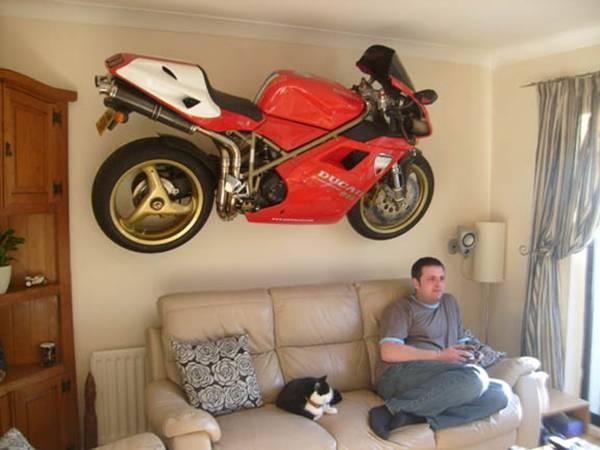 Ducati Mounted On Wall.
