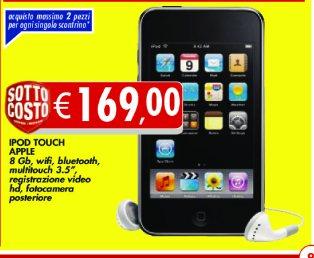Prezzo offerta di 169 euro su Apple iPod Touch