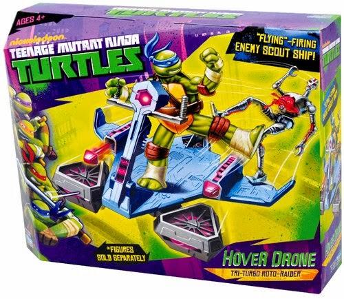 TOYS - LAS TORTUGAS NINJAS - Hover Drone  Tri-Turbo Roto-Raider Juguete Oficial   Teenage Mutant Ninja Turtles A partir de 4 años   Figuras no incluídas