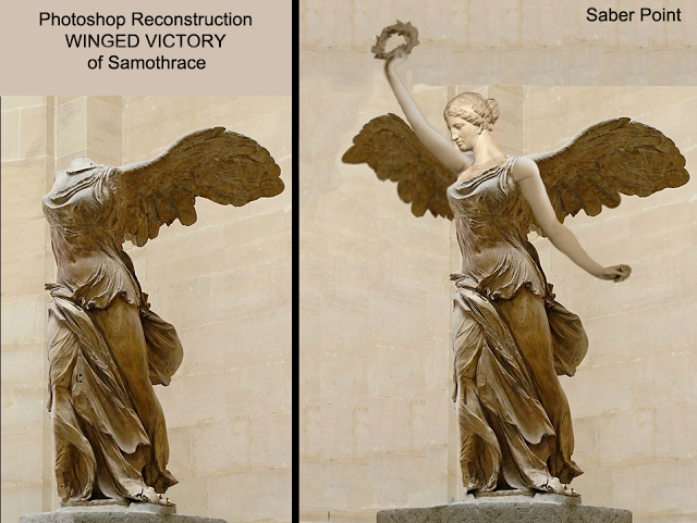 saberpoint photoshop reconstruction of winged victory of samothrace