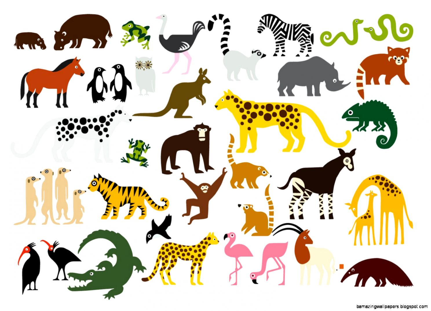 Zoo Animals Together Clipart Zoo Animals Together |...