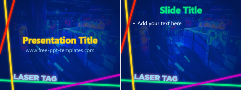 laser tag ppt template free powerpoint templates