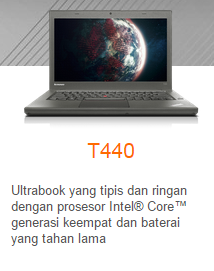 Laptop Lenovo Series Spesifikasi produk