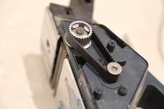 Electric planer drive belt replacement